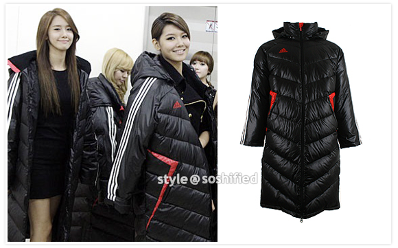 adidas long down jacket
