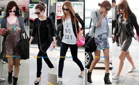 Soshified Styling Girls Generation Headed For Paris 9 People 9 Colors Airport Fashion Chic