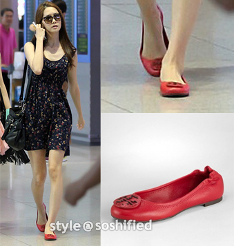 Tory Burch: Leather Reva Ballet Flat (Red) @ ToryBurch.com $195