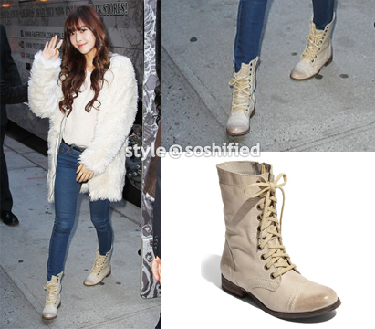 Steve Madden: Troopa Boot in Natural Leather @ Nordstrom.com $99.95