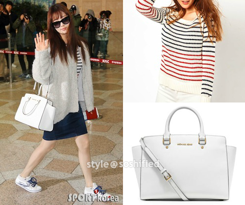 Michael Kors Large Selma Top Zip Canvas Satchel in Summer Blue; Soshified  Styling SNSD MICHAEL Michael Kors, Tommy Hilfiger