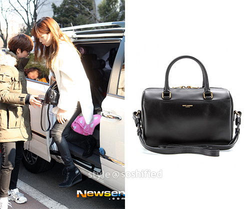 85ba09388c2a Taeyeon Saint Laurent. Saint Laurent Paris  Duffle 3 Mini Leather Bowling  Bag ...