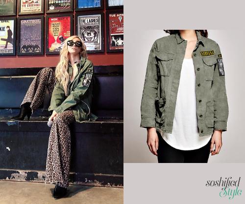 88c24589a82f Trunk Ltd  Nirvana Patch Military Jacket
